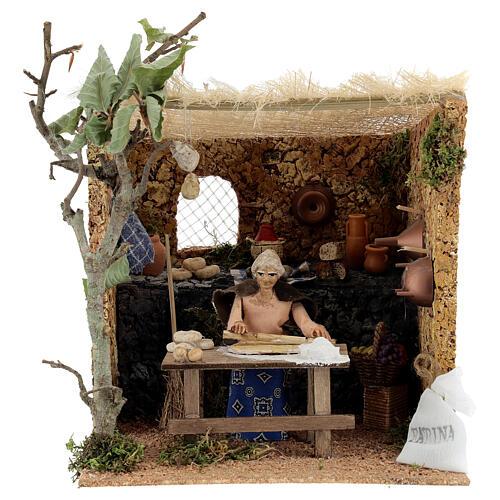 Woman kneading, 10cm for Neapolitan Nativity 1