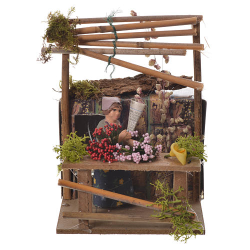 Florist, 7cm animated nativity 1
