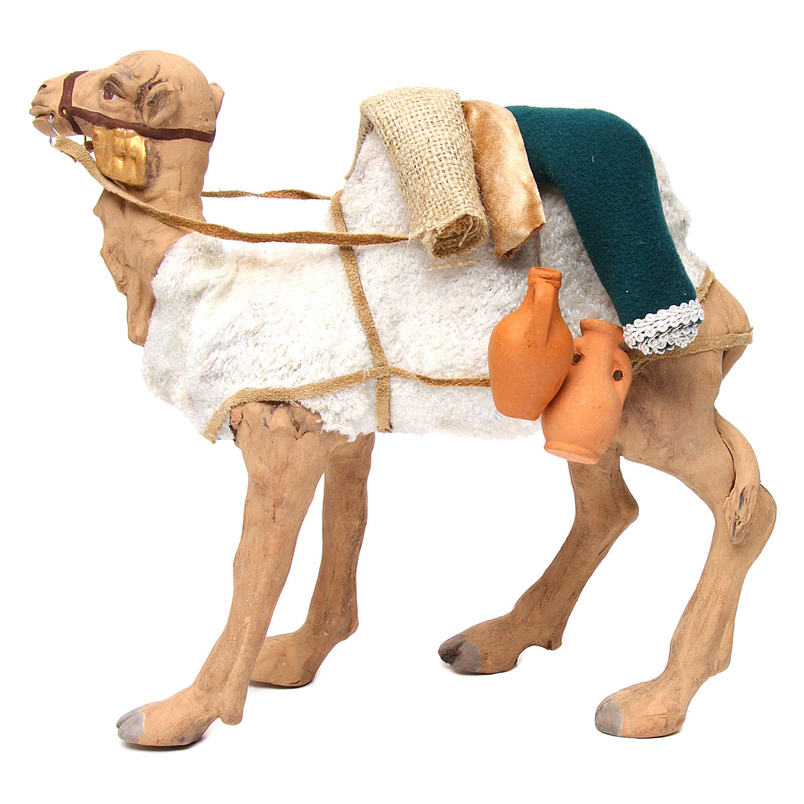 Animated camel 24cm Neapolitan Nativity 4