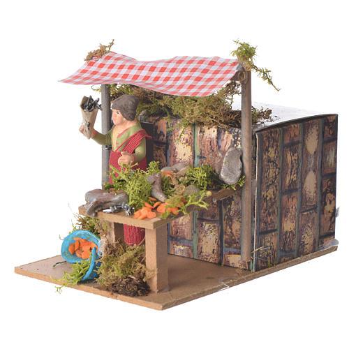 Fishmonger, animated nativity figurine 7cm 2