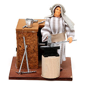 Animated Nativity Scenes: Arabian smith, animated nativity figurine, 12cm