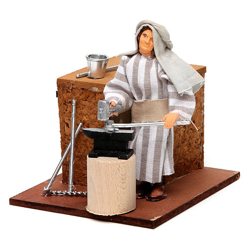 Arabian smith, animated nativity figurine, 12cm 2