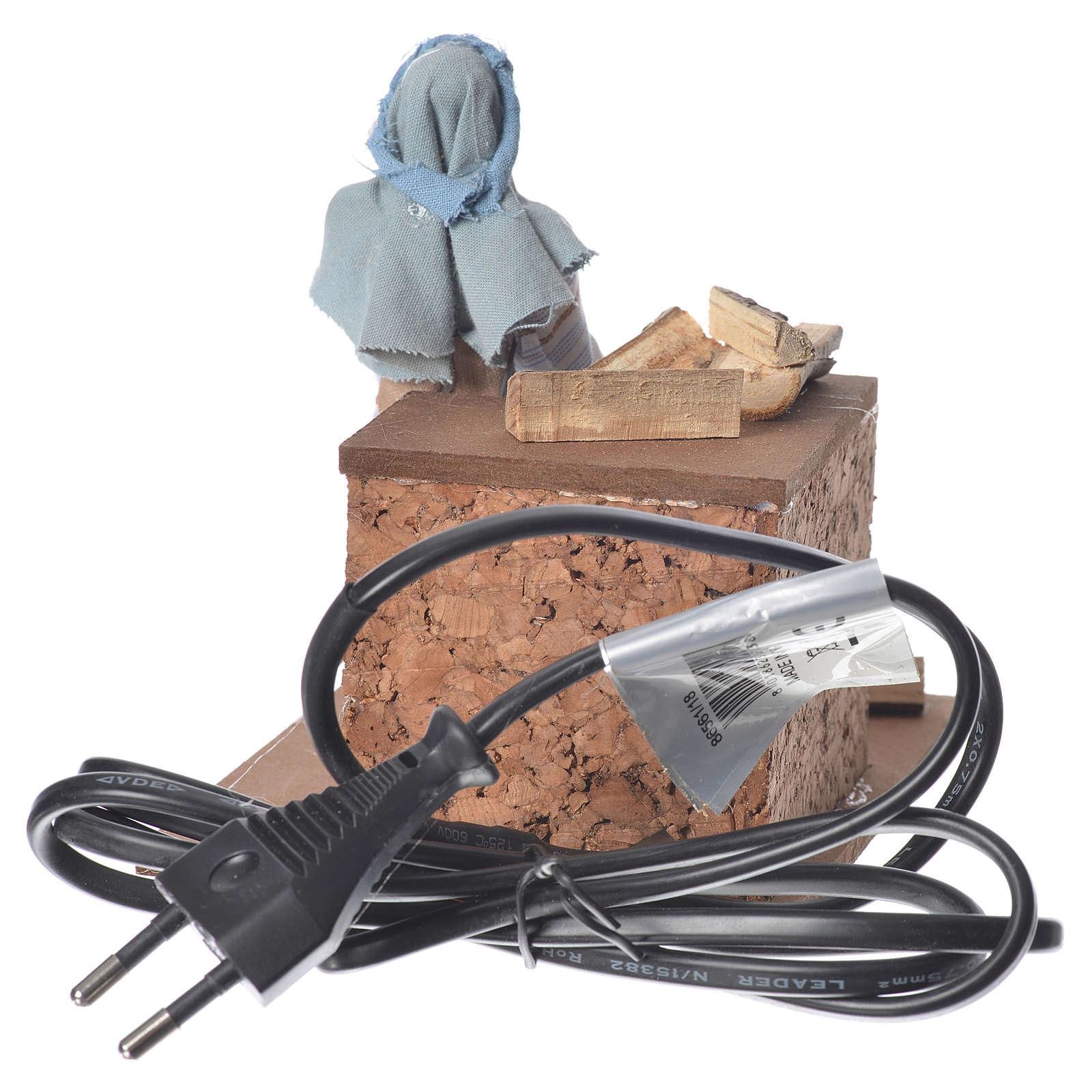 Arabian woodcutter, animated nativity figurine 12cm 3