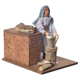 Arabian woodcutter, animated nativity figurine 12cm s3