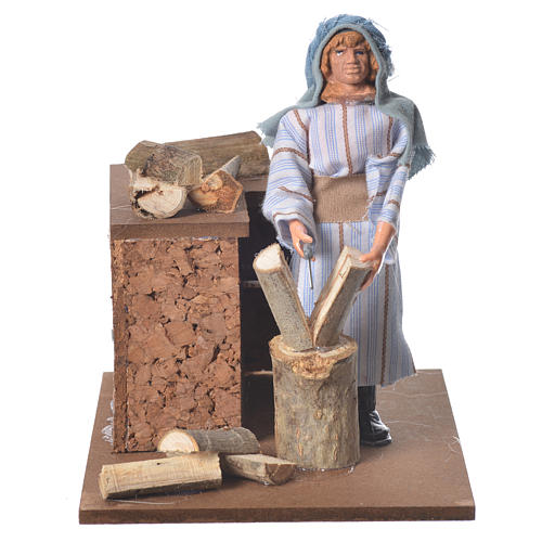 Arabian woodcutter, animated nativity figurine 12cm 1