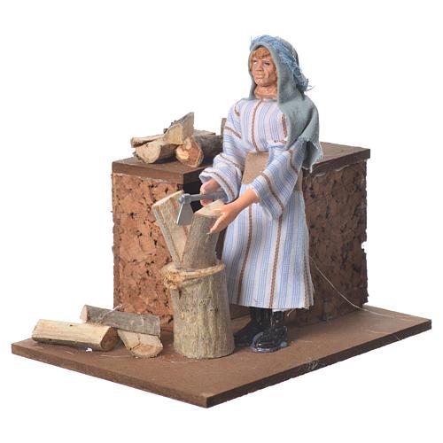 Arabian woodcutter, animated nativity figurine 12cm 2