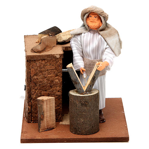 Arabian woodcutter, animated nativity figurine 12cm 5