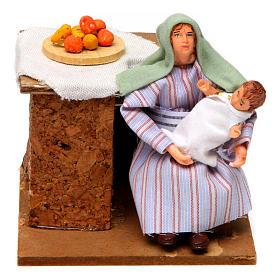 Arabian woman cradling child 12cm animated Nativity s1
