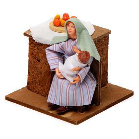 Donna araba culla bambino 12 cm movimento presepe s2
