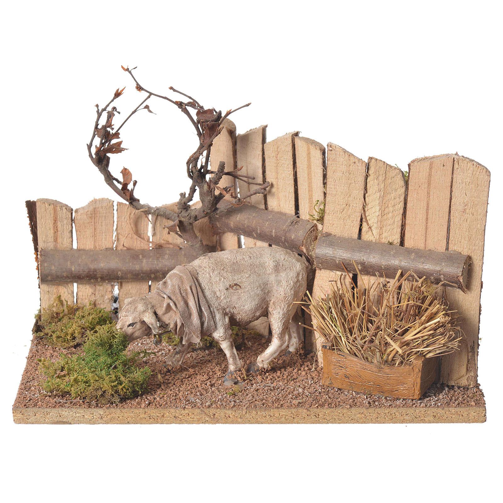 Movimiento belén 15 cm oveja 15x15x15 3
