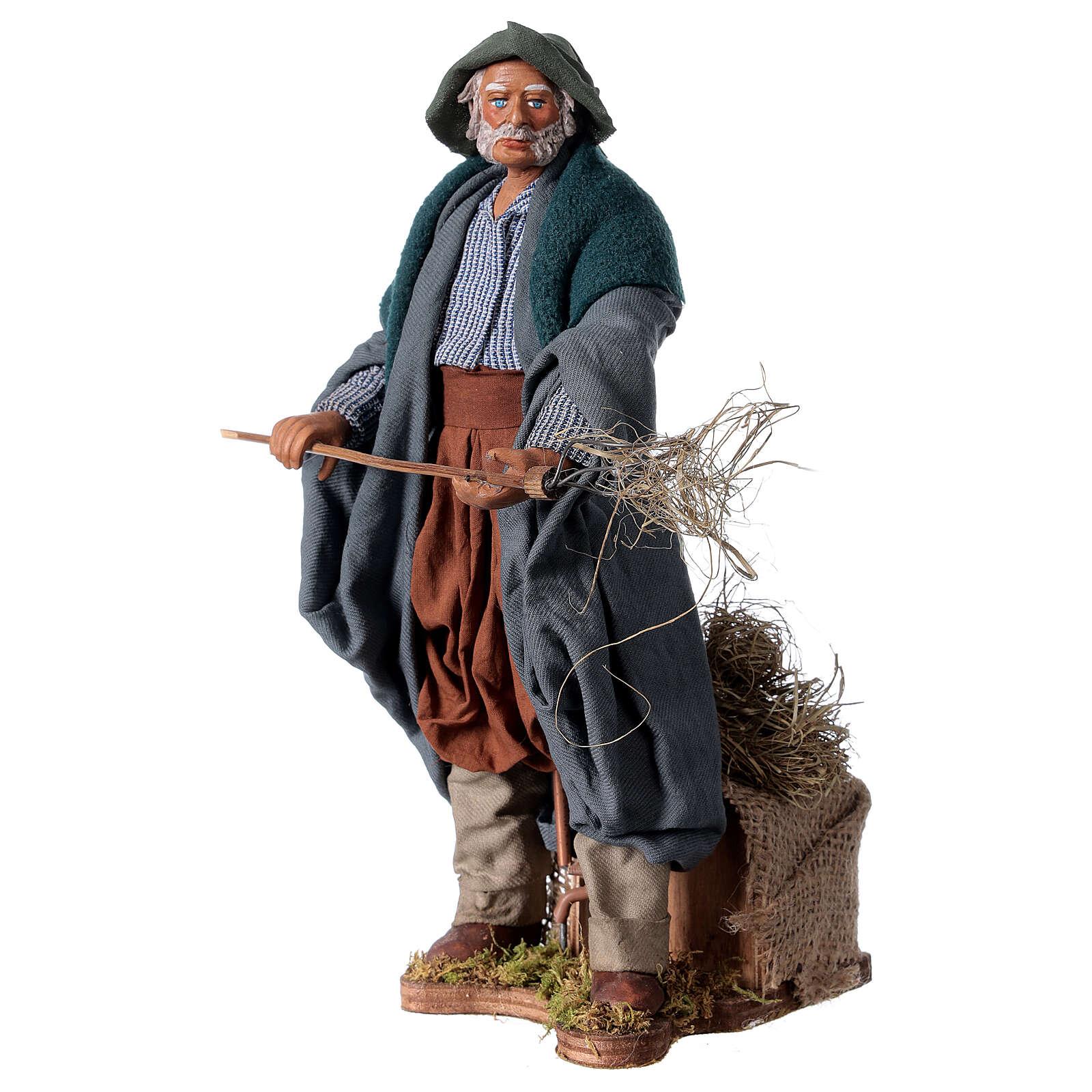 Farmer animated Neapolitan Nativity figurine 24cm 4