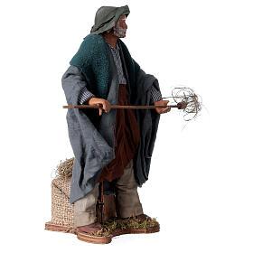 Farmer animated Neapolitan Nativity figurine 24cm s3