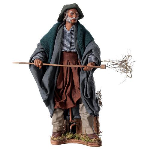Farmer animated Neapolitan Nativity figurine 24cm 1