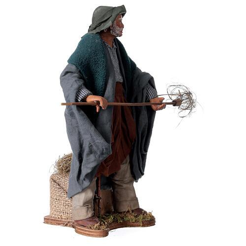 Farmer animated Neapolitan Nativity figurine 24cm 3