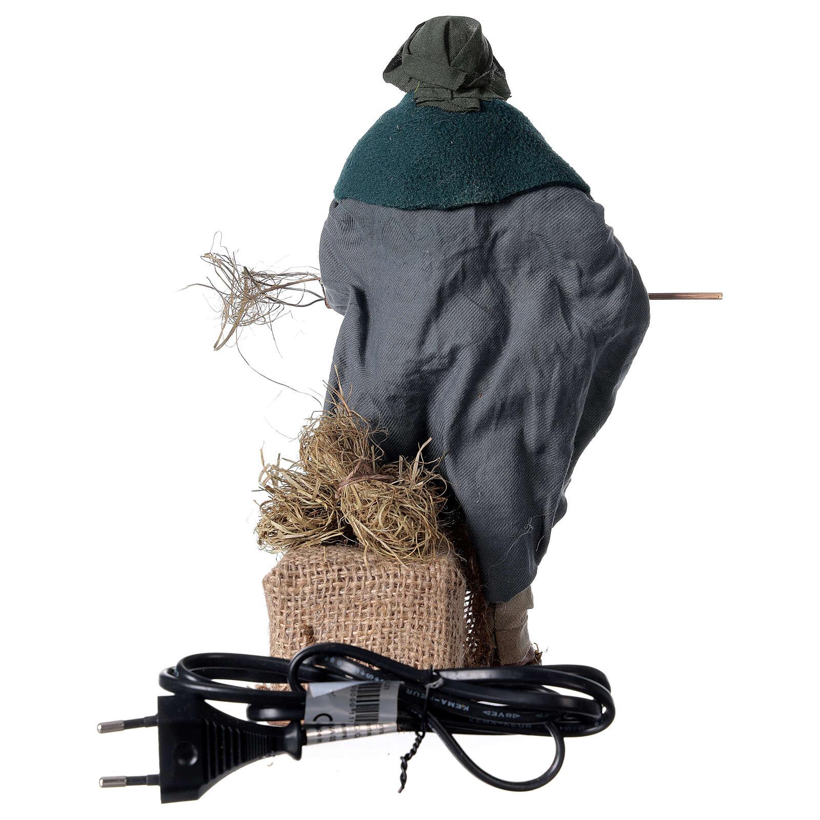 Camponês em movimento para presépio napolitano com figuras altura média 24 cm 4