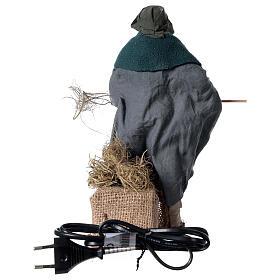 Camponês em movimento para presépio napolitano com figuras altura média 24 cm s4