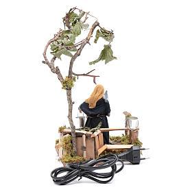 Femme à colombes 12 cm en mouvement crèche napolitaine s4