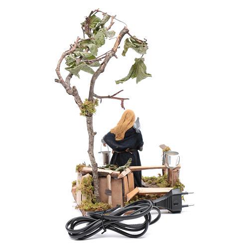 Femme à colombes 12 cm en mouvement crèche napolitaine 4
