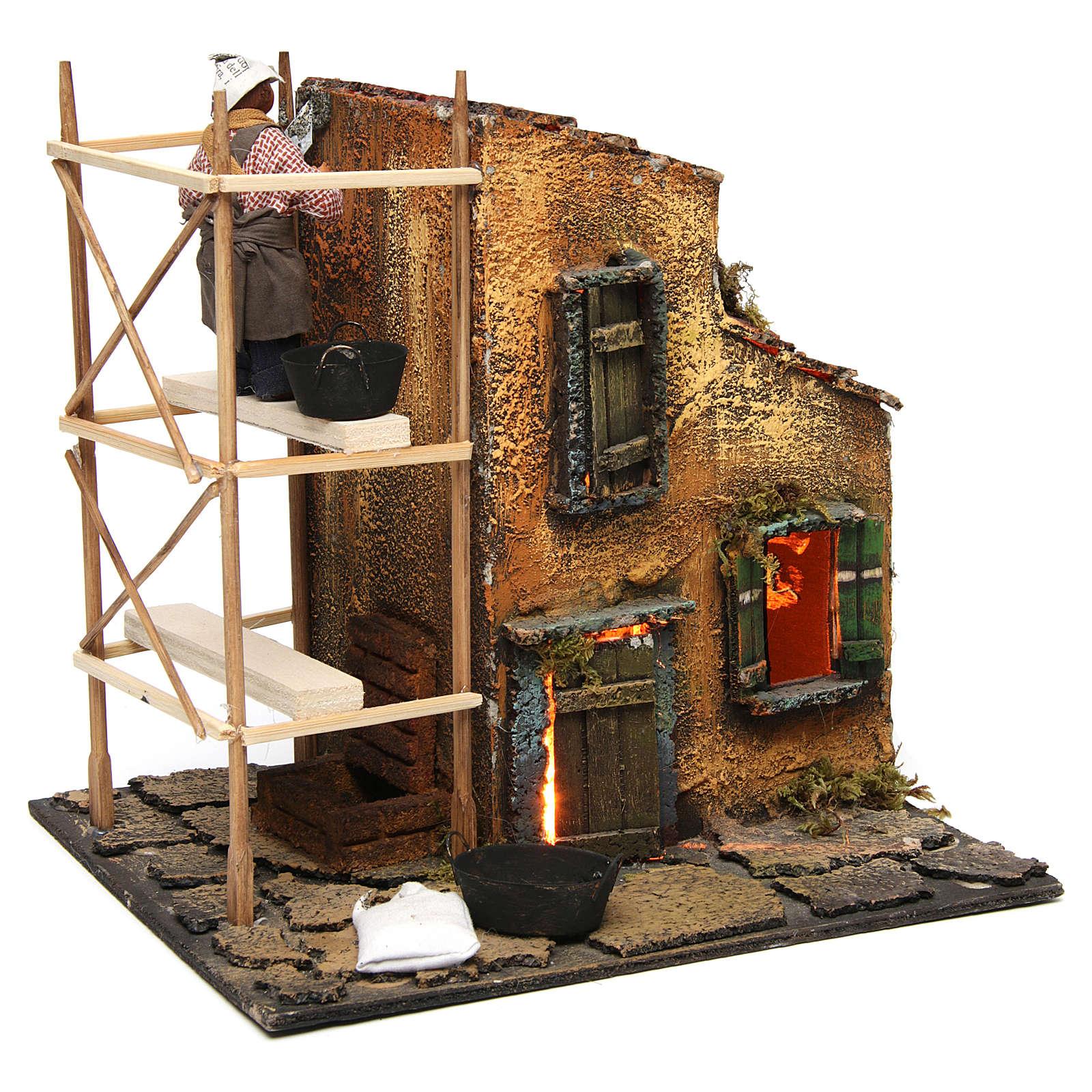 Builder animated Neapolitan Nativity figurine 10 cm 4