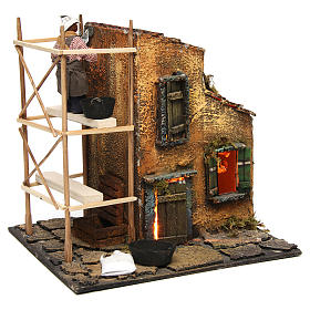 Builder animated Neapolitan Nativity figurine 10 cm s4