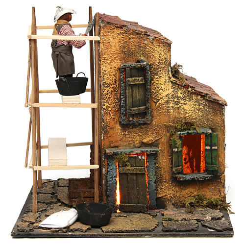 Builder animated Neapolitan Nativity figurine 10 cm 1