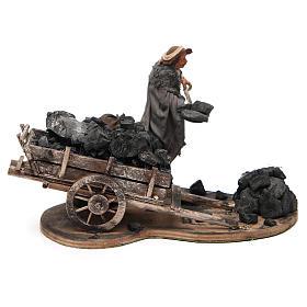 Carbonaio carro di carbone 14 cm movimento presepe Napoli s3