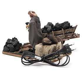 Carbonaio carro di carbone 14 cm movimento presepe Napoli s4