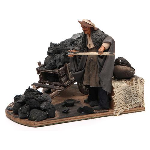 Carbonaio carro di carbone 14 cm movimento presepe Napoli 2