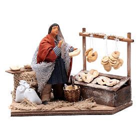 Man making taralli, animated Neapolitan Nativity figurine 12cm s1