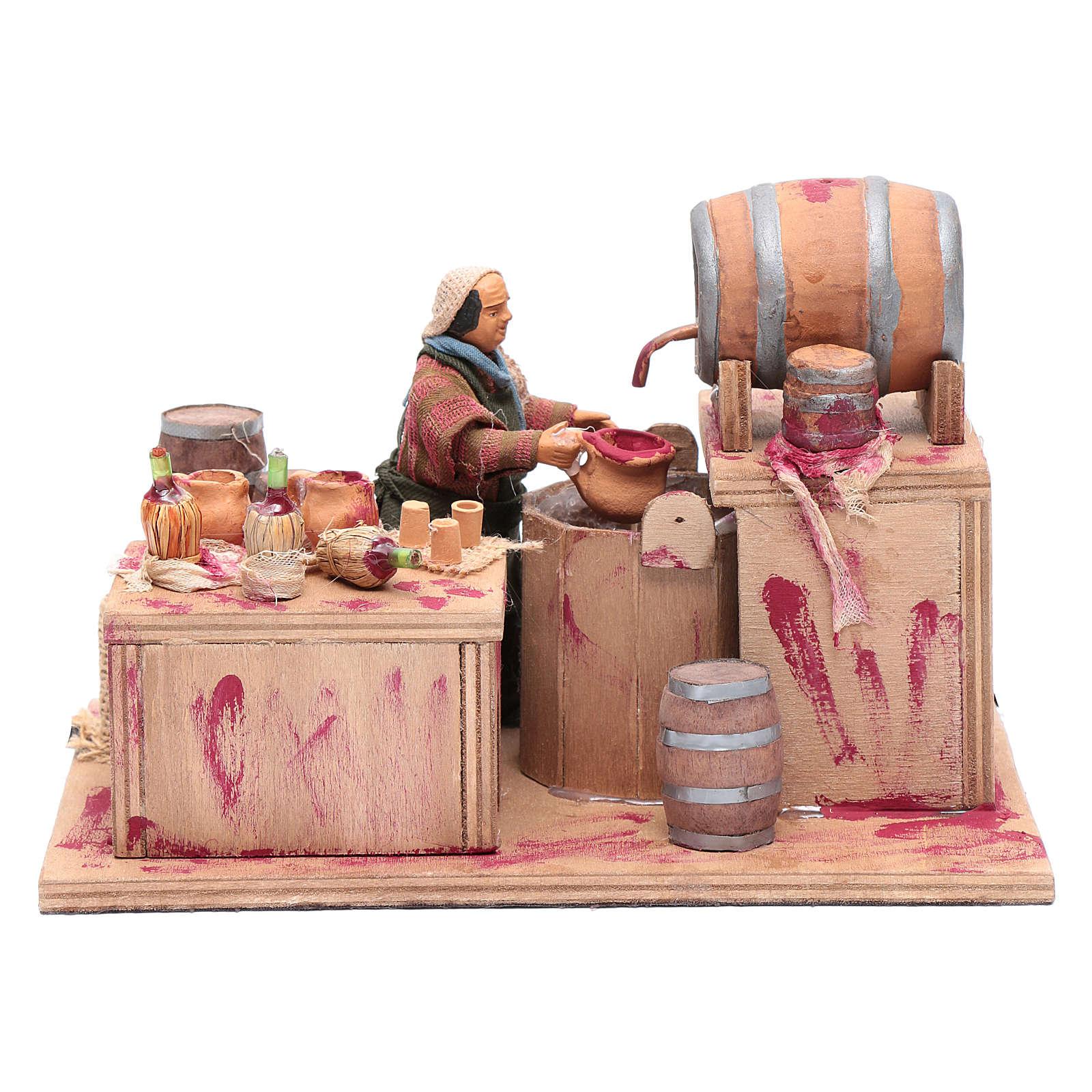 Wine maker, animated Neapolitan Nativity figurine 12cm 4