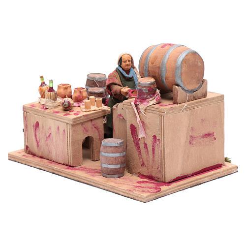 Wine maker, animated Neapolitan Nativity figurine 12cm 2