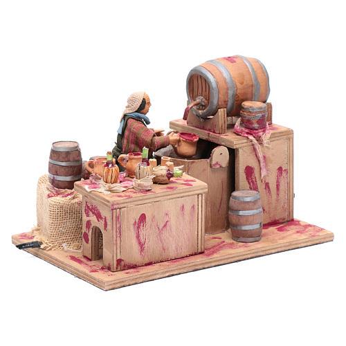 Wine maker, animated Neapolitan Nativity figurine 12cm 3