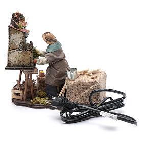 Homme construisant une crèche 12 cm mouvement crèche Naples s4