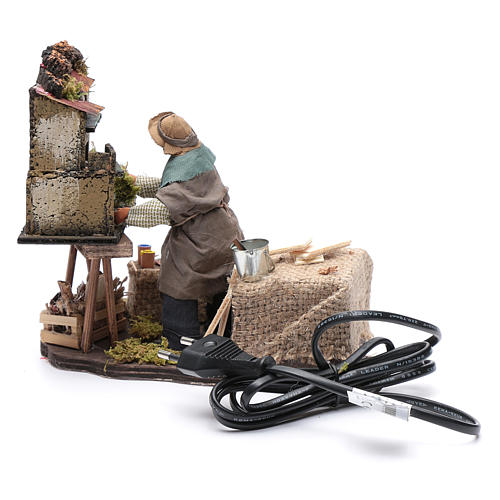 Homme construisant une crèche 12 cm mouvement crèche Naples 4