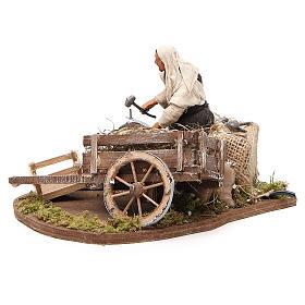Réparateur de roue en mouvement 12 cm crèche Naples s2