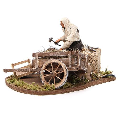 Réparateur de roue en mouvement 12 cm crèche Naples 2