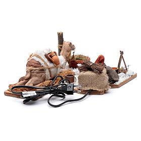 Man with camel, animated Neapolitan Nativity figurine 12cm s4