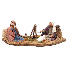 Camping scene, animated Neapolitan Nativity figurine 14cm s1