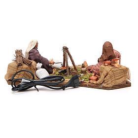 Camping scene, animated Neapolitan Nativity figurine 14cm s4