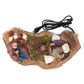 Camping scene, animated Neapolitan Nativity figurine 14cm s5