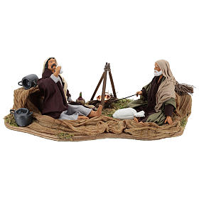 Camping scene, animated Neapolitan Nativity figurine 14cm s1
