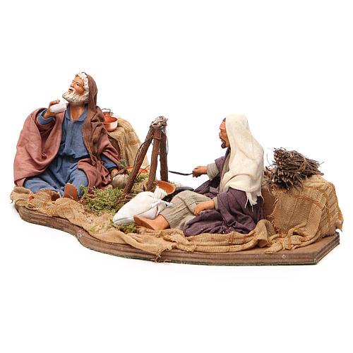 Camping scene, animated Neapolitan Nativity figurine 14cm 2