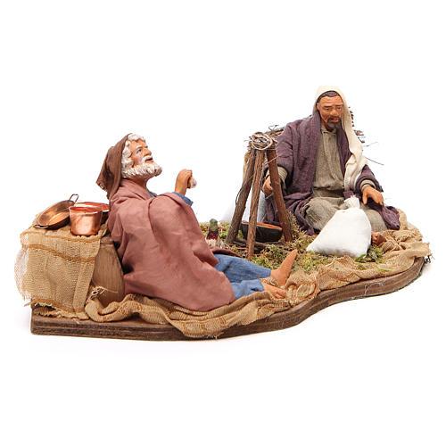 Camping scene, animated Neapolitan Nativity figurine 14cm 3