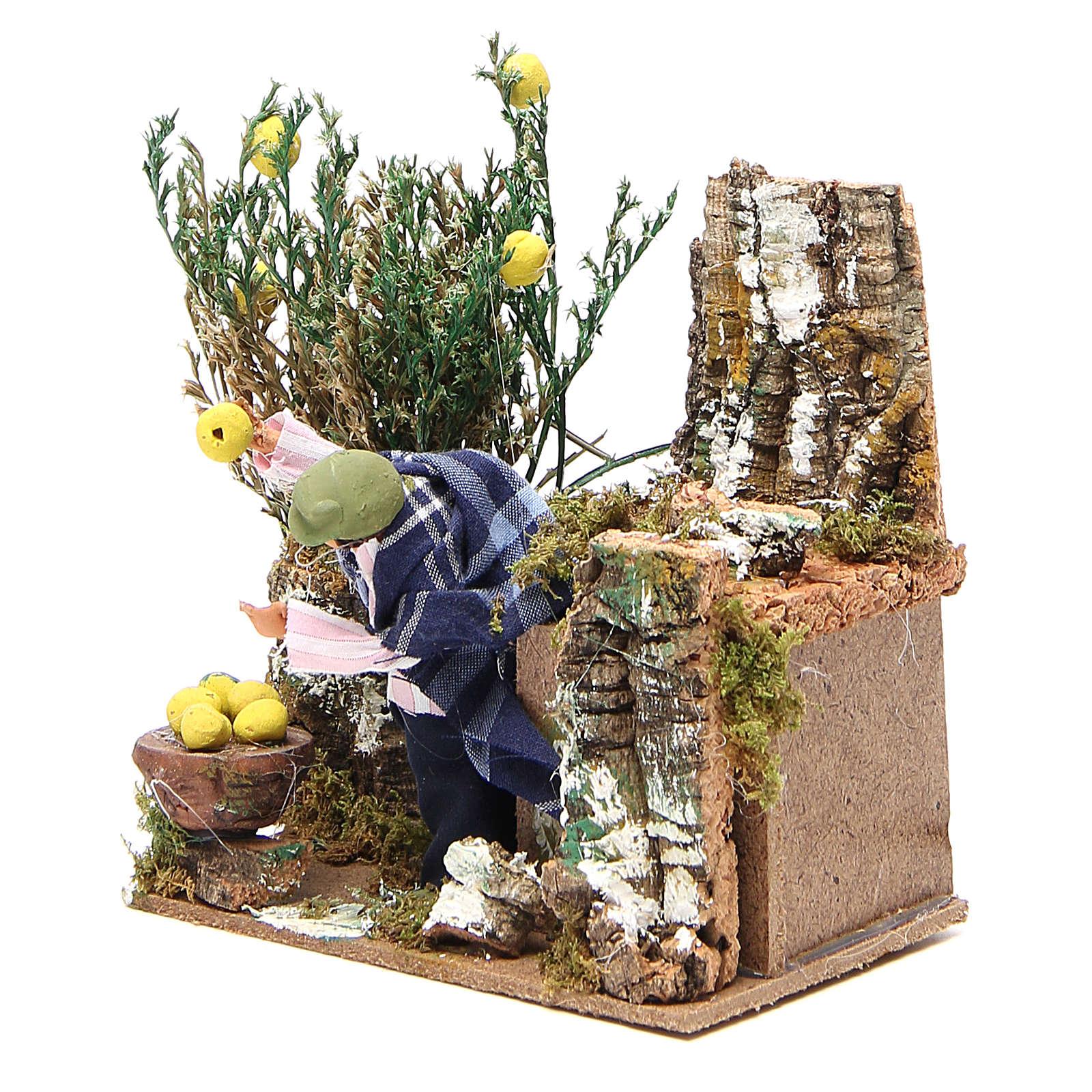 Człowiek zbierający cytryny 10cm figurka ruchoma do szopki 3