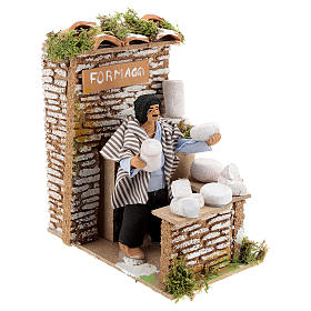Animated nativity figurine 10cm man cheese seller s3