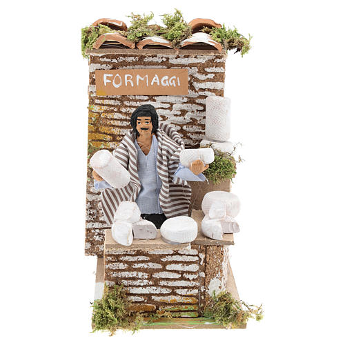 Animated nativity figurine 10cm man cheese seller 1