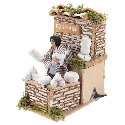 Animated nativity figurine 10cm man cheese seller 2