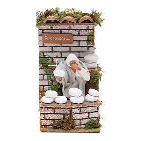 Animated nativity figurine 10cm man cheese seller s1
