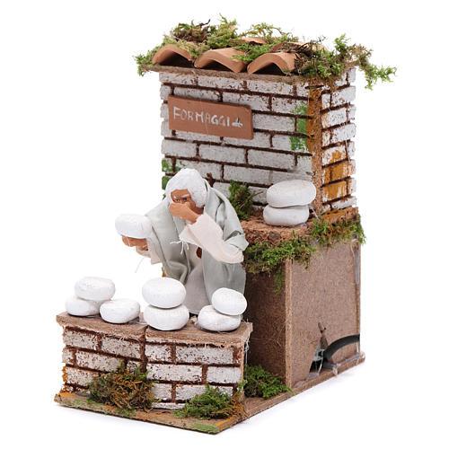 Animated nativity figurine 10cm man cheese seller 2