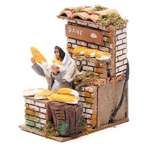 Animated nativity figurine 10cm bread stall 2